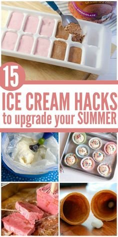 Nothing makes summer better than ice cream, and nothing makes ice cream better than these hacks! -One Crazy House