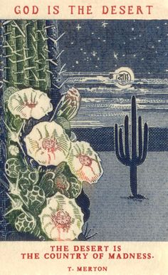 """""""A vintage US Postage Stamp depicting the anniversary of Arizona statehood with a night time desert scene with cactus and moon"""". Illustrations, Illustration Art, Art Postal, Graffiti, Desert Art, Desert Life, Desert Nomad, Desert Dream, Wow Art"""