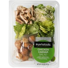 healthy food choices when eating out menu printable Chicken Ceasar, Chicken Caesar Salad, Ceasar Salad, Romaine Salad, Healthy Food Choices, Healthy Recipes, Salad Packaging, Packaging Ideas, Food Packaging