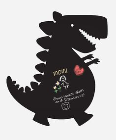 Dino peel-and-stick chalkboard