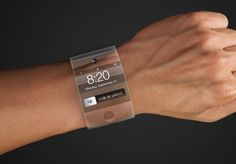 """Apple Willow Glass """"iWatch"""" smartwatch could be very curved indeed... Speculation of an Apple-made Pebble rival resurged over the weekend with chatter that the Cupertino firm was working with Foxconn on a power-efficient companion device to the iPhone, featuring a curved glass screen. Exactly how curved that might be was unclear, but according to the New York Times the flexed wearable could be wrapped entirely about the wearer's arm."""