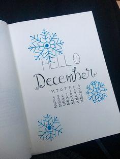 My first bullet journal ✨ Hello December!  #bulletjournal #december #bujo
