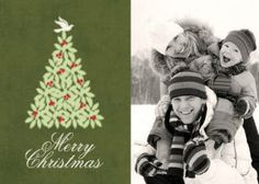 Mixbook Green Tree Christmas Cards