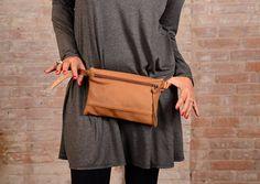 Leather Fanny pack brown, leather waist bag, Hip Pouch, waist purse,bumb bag, belt bag, waist bag,cute fanny pack, women waist bag, ustily