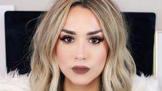 BROWN SMOKEY EYE + BROWN LIPS | Date Night Makeup