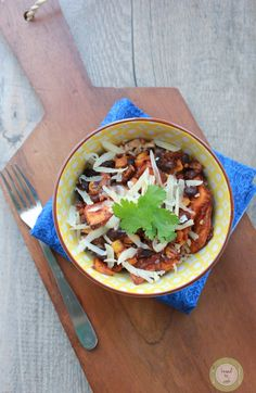 Clean Eating Black bean and Sweet Potato Bake in the Crock Pot Recipe