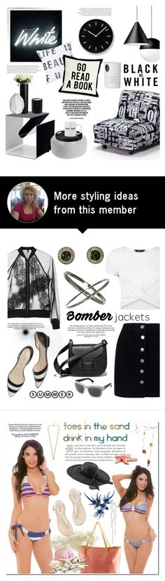 """White on black"" by helenevlacho on Polyvore featuring Seletti, Lemnos, John Lewis, CB2, One Bella Casa and Nordstrom"