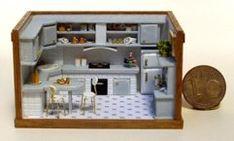 grey & yellow kitchen Francesca Vernuccio 144th miniatures.