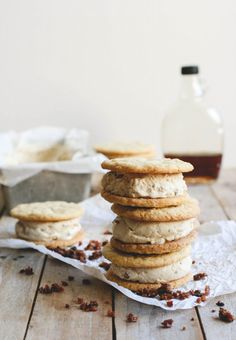 maple bacon buttermilk ice cream sandwiches