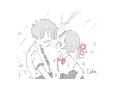 Twitter Cute Chibi Couple, Anime Love Couple, Pretty Art, Cute Art, Cute Love Gif, Cute Kawaii Drawings, Dibujos Cute, Cute Anime Pics, Cute Cartoon Wallpapers