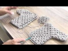 This free child's crochet cardigan pattern is perfect for Easter, Valentine's Day or year round wear and it's made from two simple hexagons!How to crochet a hexagon sweater step-by-step tutorial. Stitch Crochet, Gilet Crochet, Crochet Jacket, Crochet Baby Cardigan, Knit Crochet, Crochet Shoes, Crochet Granny, Crochet Stitches For Beginners, Crochet Videos