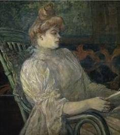 Woman Reading - Henri de Toulouse Lautrec