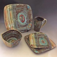 Handmade Ceramic Place Setting by PotterybyJessie on Etsy