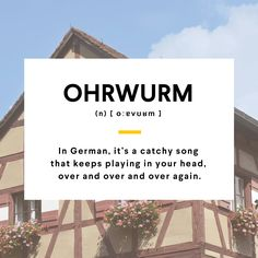That song you cannot get out of your head #German #WordOfTheDay