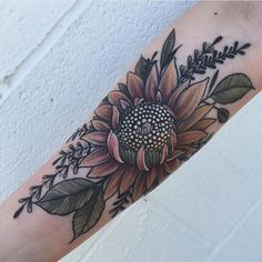 Cool black and white sunflower tattoo ideas you with to have 58