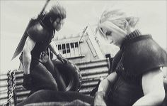 Advent Children Cloud and Zack