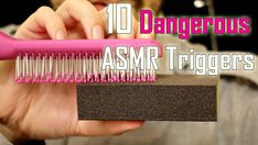 """This is my 10 """"dangerous"""" ASMR triggers. Only sounds, no talking. Recorded with HQ binaural microphone. I hope You going to like it. Have a nice relaxing time & sleep."""