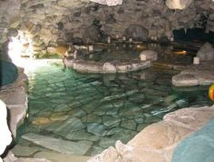 Pool in a cave!
