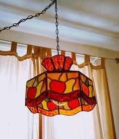 Lampe+style+Tiffany+vintage+suspension+vitrail+lampefruit+décoration+déco+suspendu