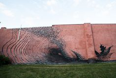 Murals by DALeast Make Heavy Use of Frenzied Lines (12 pictures)