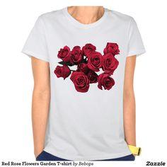 Red Rose Flowers Garden T-shirt
