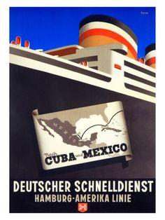 Cuba Mexico Vintage Cruise Ad