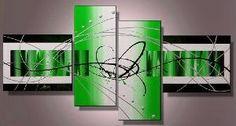 Tableaux abstrait design vert