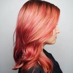 Stunning Peachy Hair
