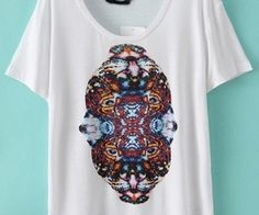 White Short Sleeve Tiger Print T-Shirt. Fashion : Tops : T-Shirts White Short Sleeve Tiger Print T-Shirt - See more at: http://spenditonthis.com/cat-13-fashion-newest.html#sthash.w5qQhEjP.dpuf