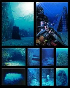 The Cambay Ruins, ancient sunken city found off the coast of India in the bay of Cambay, lying 120 feet below the ocean's surface, 5 miles long and 3 miles wide, predating the oldest known civilizations by around years. Ancient Mysteries, Ancient Ruins, Ancient Artifacts, Ancient History, Underwater Ruins, Underwater World, Marine Archaeology, Magic Places, Sunken City