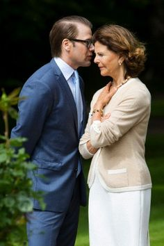 I want to know what is Prince Daniel whispering to his mother in law Queen Silvia during the 36th birthday celebrations of Crown Princess Victoria on the Island Oland, Sweden