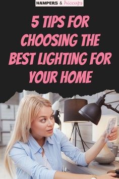 Choosing lighting for your home is important because light has such an impact on the design and feel of our space. Here are some ideas and tips when using lights and lamps in your home's kitchen, dining room, living room and bedroom. Inexpensive Home Decor, Cheap Home Decor, Types Of Lighting, Cool Lighting, Gentle Sleep Training, Organizing, Organization, Baby Led Weaning, Dining Room Lighting
