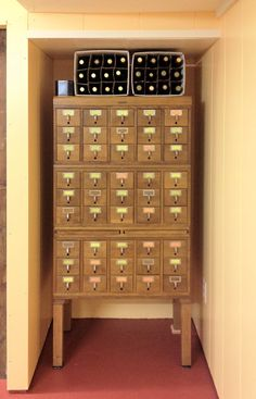 Yes...this is what a card catalog looks like........
