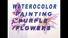 My name is Angela and I am an artist and illustrator. In this video I demonstrate painting two different purple flowers. I discuss the type of watercolor pap. Purple Flowers, Watercolor Paintings, Illustration, Artwork, Artist, Work Of Art, Water Colors, Auguste Rodin Artwork, Artists