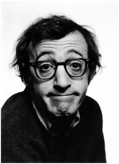The American actor and film director Woody Allen. New York City, 1969. Photographed by Philippe Halsman.