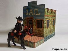 Papermau: Old West Sheriff Office Paper Model - by Papermau - Download Now!