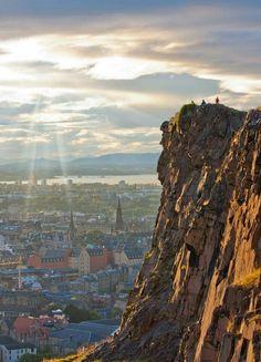 Edinburgh and Arthurs Seat. By Scotland now.com