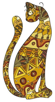 Gato Inspiration: Outline a famiiar shape and work on patterns & color relationships