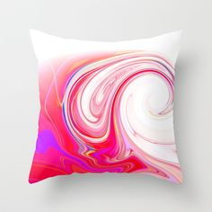 Re-Created  Tsunami SEVEN Throw Pillow by Robert S. Lee - $20.00