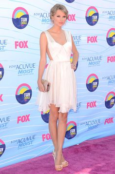 Singer Taylor Swift wore a Maria Lucia Hohan dress to the 2012 Teen Choice Awards at Gibson Amphitheatre on 22 July 2012 in Universal City, California
