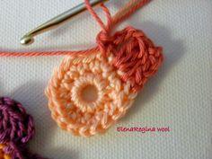 ElenaRegina wool: Fiore 4 + foglia