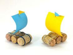 Parafadugóból tutaj - Kreatív ötletek gyerekeknek