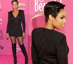 Jennifer Hudson Chops Off Her Long Hair into a Short Pixie Cut! I love it! Cant wait for winter to be over!""