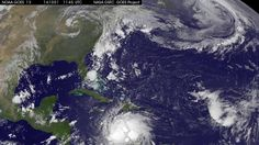 Satellite Movie Shows Major Hurricane Matthew Affecting Hispaniola