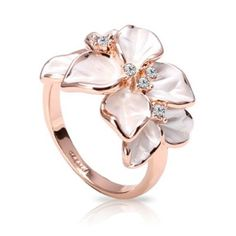 FASHION PLAZA weiß Schmelz & Österreichischen Kristall Blumen Damen Fashion Ringe elegant Stil Modul R180 (63 (20.1)): Amazon.de: Schmuck