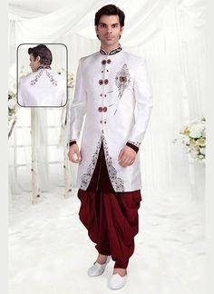 Readymade Indian Mens Designer Wedding Ethnic Dress Bollywood Sherwani Indostyle #tanishifashion
