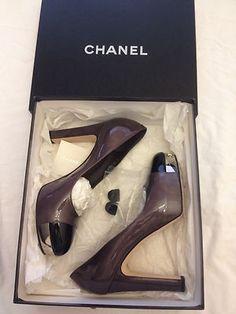 Chanel Purple Platform Heel Pumps