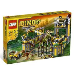 LEGO Dino Defense HQ 5887 *** You can get additional details at the image link. (This is an affiliate link) Dino Toys, Dino Dino, Lego Jurassic Park, Jurassic Movies, Lego Dinosaur, Building Blocks Toys, Buy Lego, Lego City, Lego Star Wars