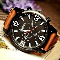 Stan Vintage Watches | Handmade vintage leather bangle studded bracelet quartz wrist watch (WAT018) | Online Store Powered by Storenvy
