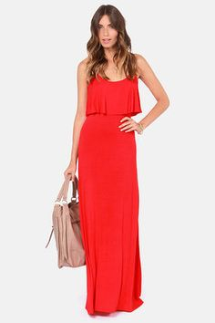 I just bought this: Moved to Tiers Red Maxi Dress at LuLus.com!